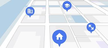 Mapa ve stylu satelitní navigace vám ukáže zajímavá místa