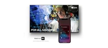 Snímek obrazovky s filmem a smartphonu