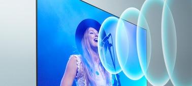 Snímek zpěváka na koncertě