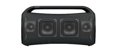 Přenosný reproduktor SRS-XG500 při pohledu zepředu se zaostřením na reproduktor X-Balanced Speaker.