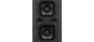 Snímek přenosného reproduktoru XP500 řady X zepředu s detailem jednotky reproduktoru X-Balanced Speaker Unit.