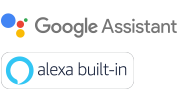 Logo aplikací Google Assistant a Amazon Alexa