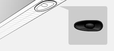 Snímek znázorňující umístění reproduktoru X-balanced speaker™